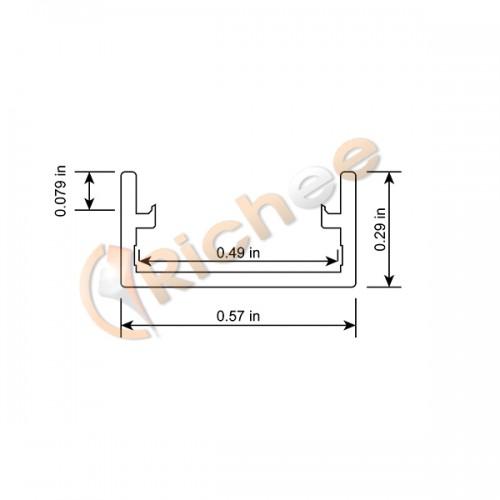 9  16 u0026quot  deep flat slim led aluminum channel