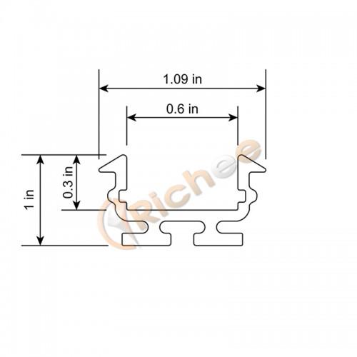1 u0026quot  round top led aluminum channel
