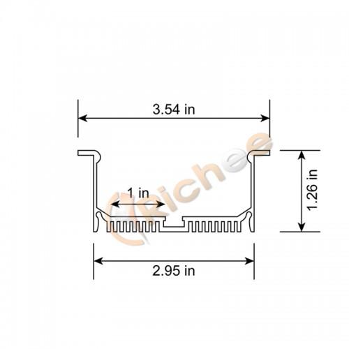 3 1  2 u0026quot  wide recessed led aluminum channel w   trim