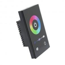 Black Single Gang Wall Mount RGB Controller